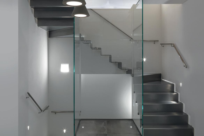 """Scala a giorno legno e vetro duelle scale metallo duelle scale modello """"BOSCH"""""""